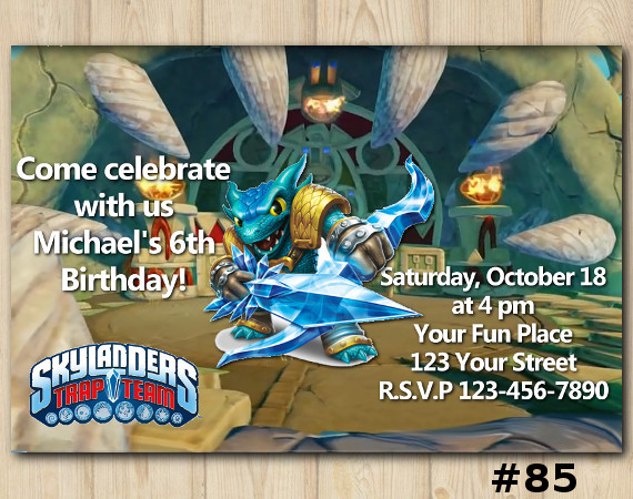 Skylanders Trap Team Invitation