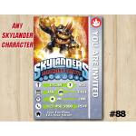 Skylanders Trap Team Game Card Invitation | Fryno | Personalized Digital Card