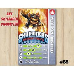 Skylanders Trap Team Game Card Invitation | Fryno