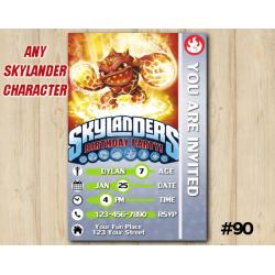 Skylanders Trap Team Game Card Invitation | Eruptor