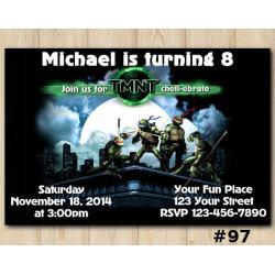 TMNT Invitation