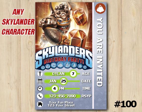 Skylanders Wallop Game Card Invitation | Wallop | Personalized Digital Card
