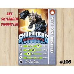 Skylanders Trap Team Game Card Invitation | FirstBump