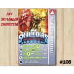 Skylanders Wildfire Game Card Invitation | Wildfire | Personalized Digital Card