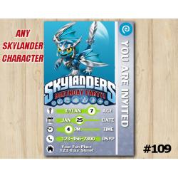Skylanders Trap Team Game Card Invitation | Blades