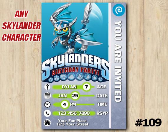 Skylanders Trap Team Game Card Invitation | Blades | Personalized Digital Card