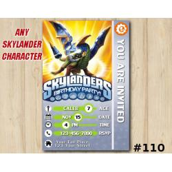 Skylanders Swap Force Game Card Invitation | Drobot