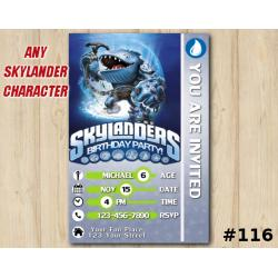 Skylanders Swap Force Game Card Invitation | Thumpback