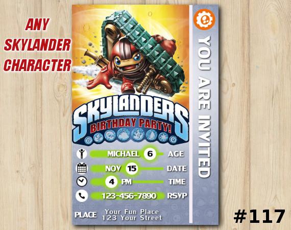 Skylanders Trap Team Game Card Invitation | TreadHead | Personalized Digital Card
