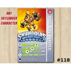 Skylanders Swap Force Game Card Invitation | BlastZone