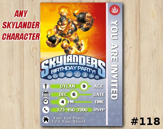 Skylanders Swap Force Game Card Invitation | BlastZone | Personalized Digital Card