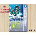 Skylanders Swap Force Game Card Invitation | WashBuckler | Personalized Digital Card