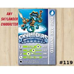 Skylanders Swap Force Game Card Invitation | WashBuckler