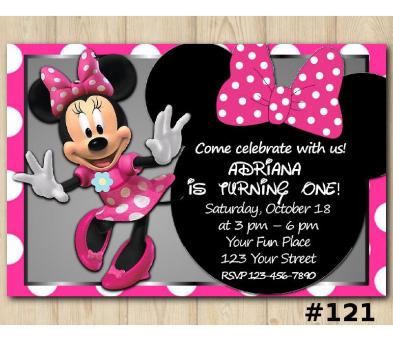 Minnie Mouse Invitation Template from diy-printables.com
