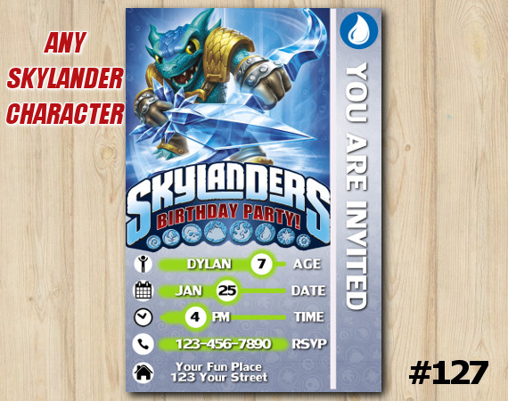 Skylanders Snap Shot Game Card Invitation   SnapShot   Personalized Digital Card