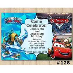 Twin Skylanders and Disney Cars Invitation | Snapshot