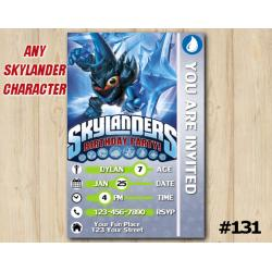 Skylanders Trap Team Game Card Invitation | LobStar