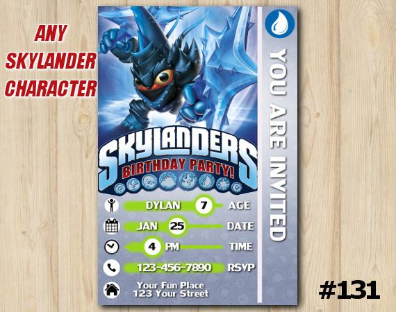 Skylanders Trap Team Game Card Invitation   LobStar   Personalized Digital Card