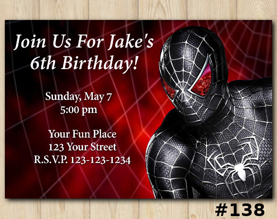 Spiderman Invitation | Personalized Digital Card
