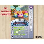 Skylanders Trap Team Game Card Invitation   PainYatta   Personalized Digital Card