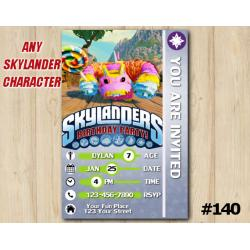 Skylanders Trap Team Game Card Invitation | PainYatta