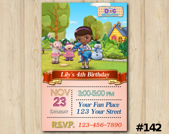 Doc McStuffins Invitation | Personalized Digital Card