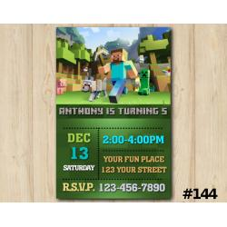 Minecraft Invitation