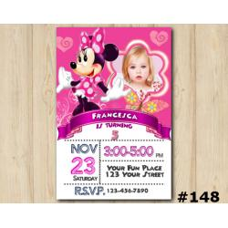 Minnie Mouse Invitation with Photo