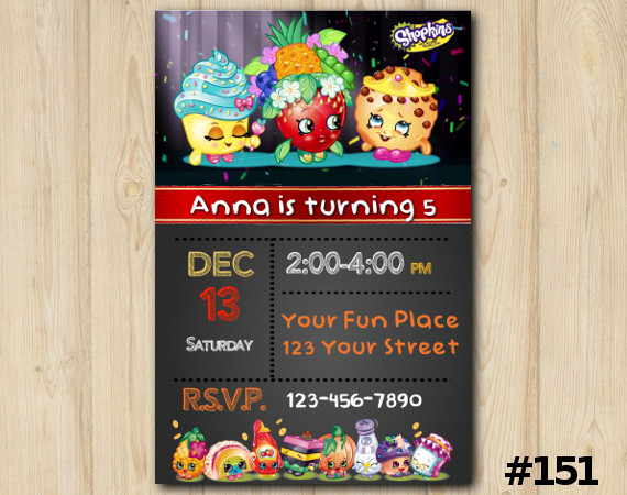 Shopkins Invitation | Personalized Digital Card