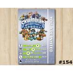 Skylanders Swap Force Game Card Invitation | Personalized Digital Card
