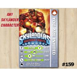 Skylanders Trap Team Game Card Invitation | KaBoom