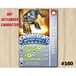 Skylanders Swap Force Game Card Invitation | Terrafin