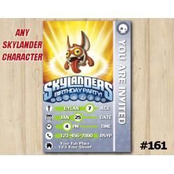 Skylanders Trap Team Game Card Invitation TriggerSnappy