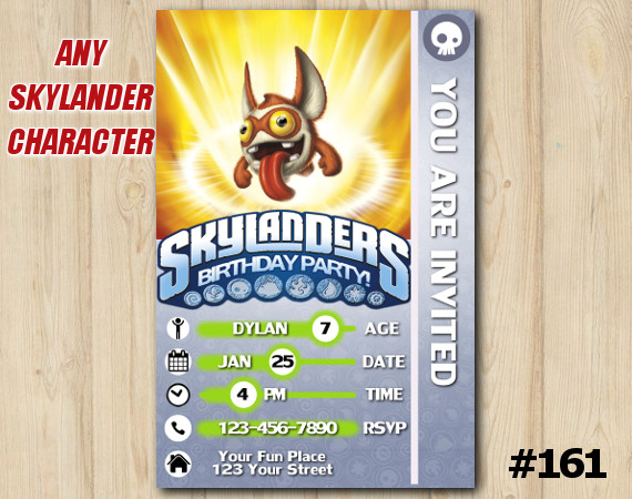 Skylanders Trap Team Game Card Invitation TriggerSnappy | Personalized Digital Card