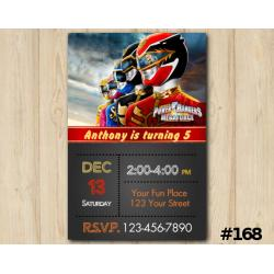 Power Ranger Invitation