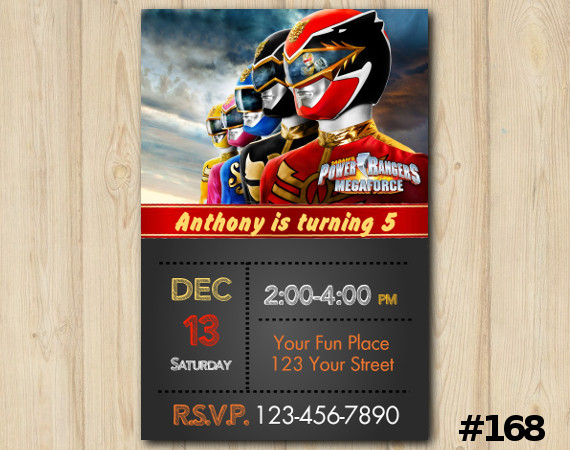 Power Ranger Invitation | Personalized Digital Card