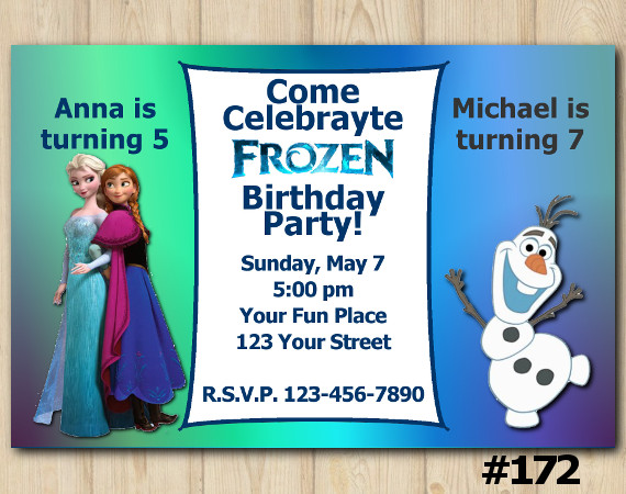Frozen Invitation | Personalized Digital Card