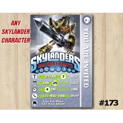 Skylanders Trap Team Game Card Invitation | KryptKing