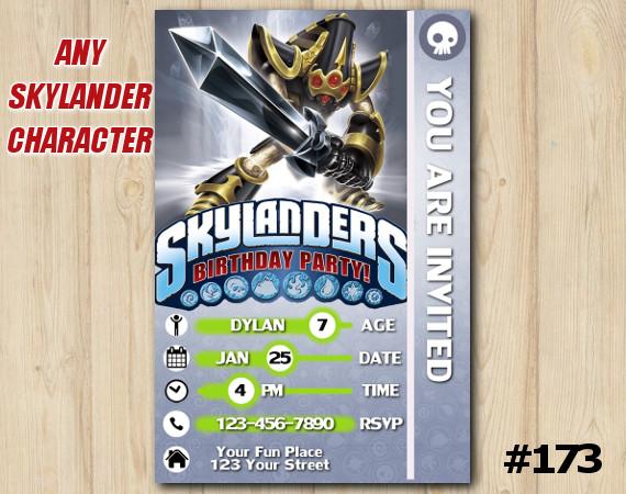 Skylanders Trap Team Game Card Invitation | KryptKing | Personalized Digital Card