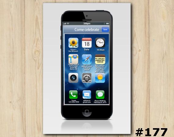 iPhone Invitation | Personalized Digital Card