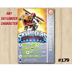 Skylanders Trap Team Game Card Invitation | Choopper