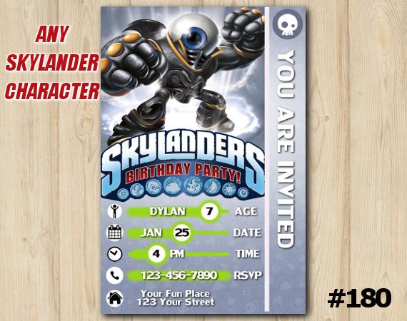 Skylanders Trap Team Game Card Invitation   EyeBrawl   Personalized Digital Card