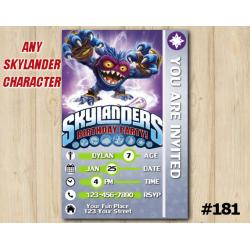 Skylanders Trap Team Game Card Invitation | PopFizz