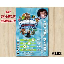 Skylanders Trap Team Game Card Invitation with Photo