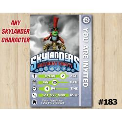 Skylanders Trap Team Game Card Invitation | DrKrankcase