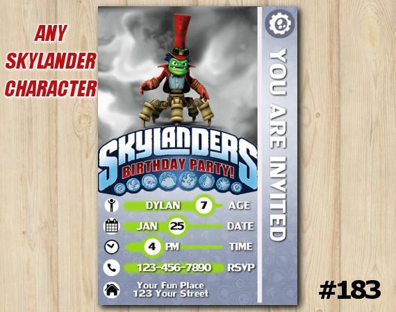 Skylanders Trap Team Game Card Invitation | DrKrankcase | Personalized Digital Card