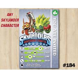 Skylanders Trap Team Game Card Invitation | FoodFight