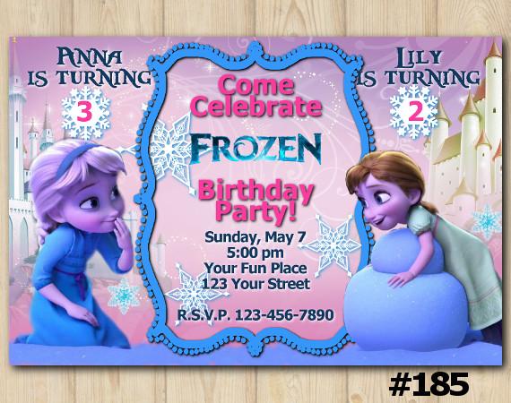Frozen Invitation | Personalized Digital Card