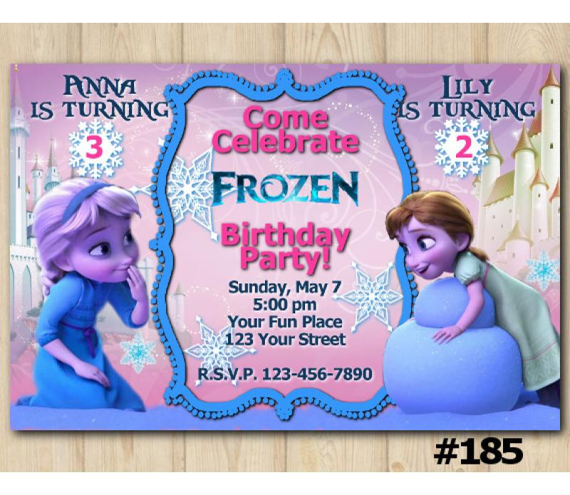 disney frozen birthday invitation with elsa and anna