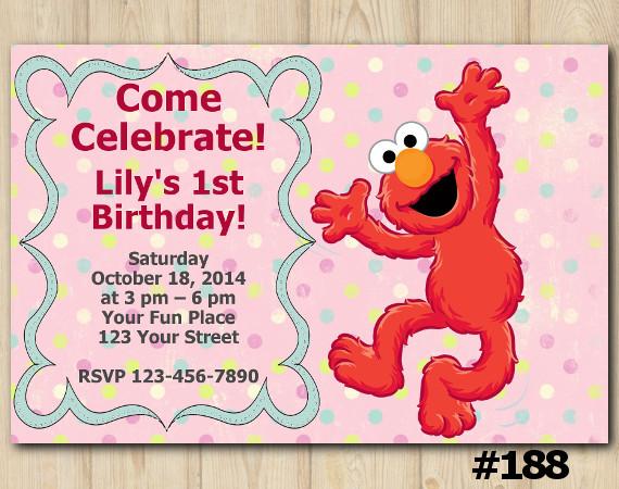 Elmo Invitation | Personalized Digital Card